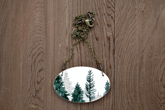 1. Canopy Necklace in Graphite - Wooden Tree Pendant - meghannrader - etsy.jpg